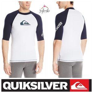 🆕Quiksilver Short Sleeve Rashguard UPF 50+